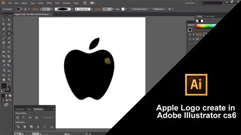 adobe illustrator cs6 how to make a logo how to create apple logo in adobe illustrator cs6 youtube