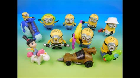 Happy Meal Despicable Me3 2017 despicable me 3 set of 10 mcdonalds happy meal toys review