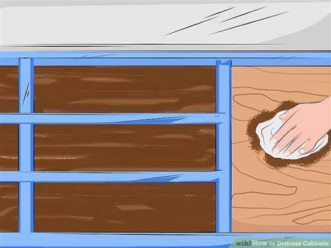 how to distress wood cabinets how to distress cabinets with pictures wikihow