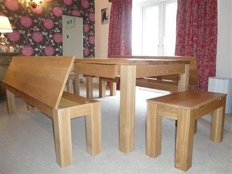 Dining Room Table Benches by Dining Table With Bench And Storage Your Home