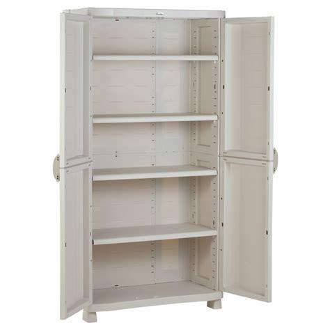 armoire de rangement blanche plastiken 184x90x45