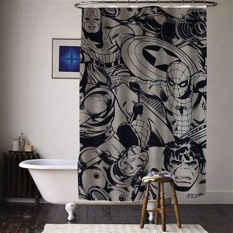 marvel shower curtain 17 best images about comic book bathroom ideas on