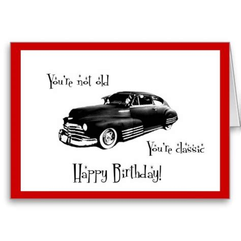 printable birthday cards cars classic car birthday card classic car party pinterest