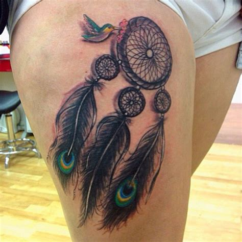 dreamcatcher thigh tattoos catcher images designs