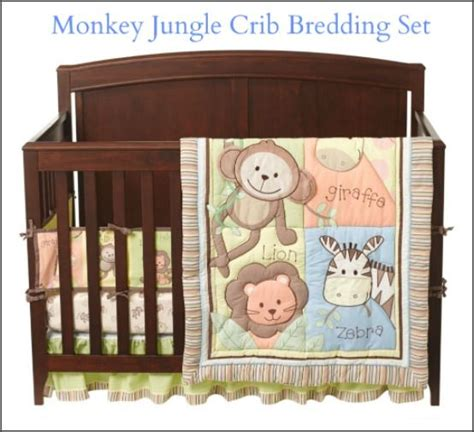 Monkey Themed Crib Bedding Set Monkey Jungle Crib Bedding Set Animal Themed Nursery Ideas Monkey Bedding Sets