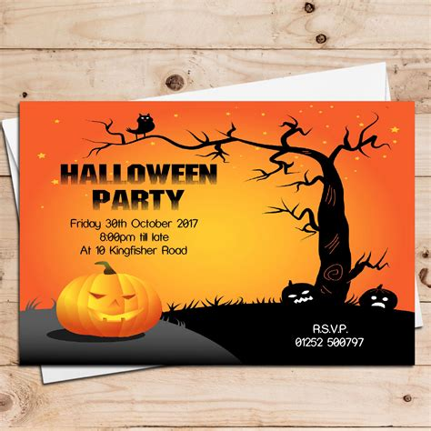 10 Personalised Halloween Party Invitations N5