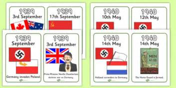 world war two timeline cards world war two ww2 timeline