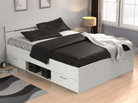 lit gaspard avec tiroirs xcm blanc
