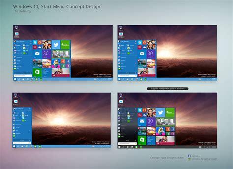 layout start menu windows 10 windows 10 start menu concept design customize by