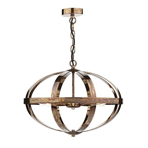 dar symbol sym0364 petrol copper 3 light ceiling light