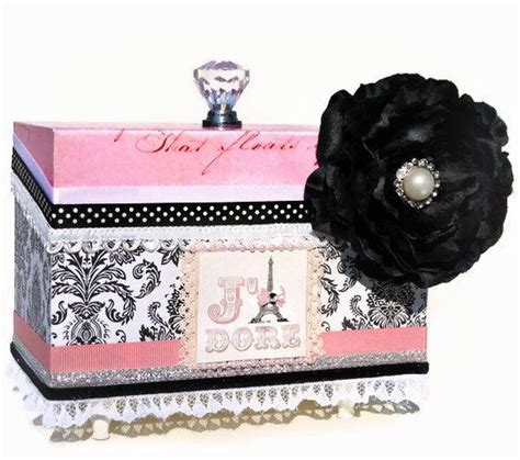 Decorating Ideas For Jewelry Boxes Jewelry Box Decorative Pink Eiffel Tower Room