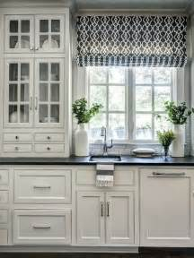 Fake Roman Shade - functional kitchen window ideas 2017