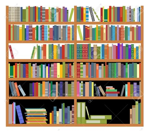 Bookshelf For Books by Library Shelf Clipart Clipartxtras