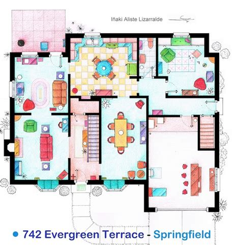 the simpsons house floor plan family guy house floor plan