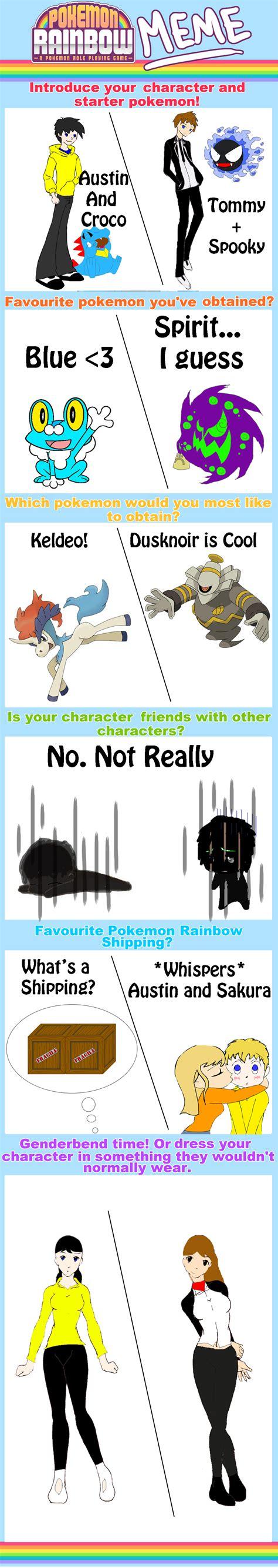 pokemon rainbow memes on pokemonrainbow deviantart
