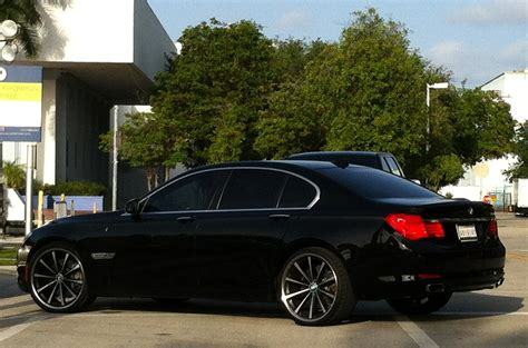 custom black bmw black bmw 750i with custom vossen rims cars on