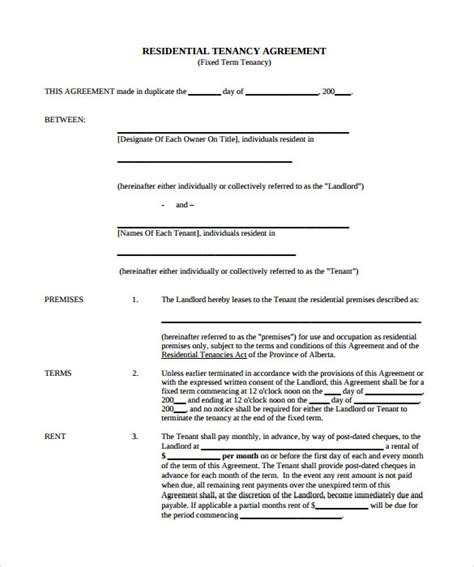 free rental agreement template sle rental agreement template 10 documents in pdf