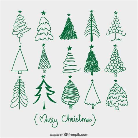 arbres de no 235 l croquis tree sketches christmas trees