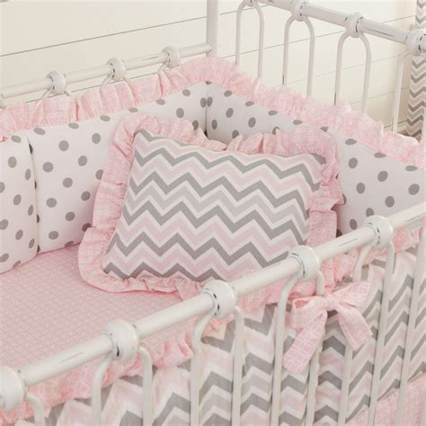 Gray And Pink Crib Bedding Pink And Gray Chevron Nursery Decor Carousel Designs