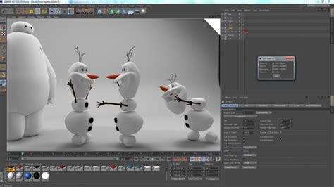 c4d character template olaf disney frozen high poly 3d model 3ds obj dae