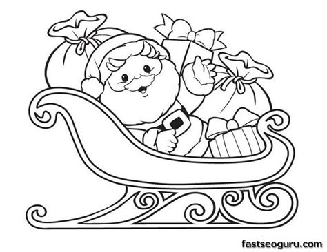 free coloring pages of santa s sleigh free coloring pages of sleigh and reindeers