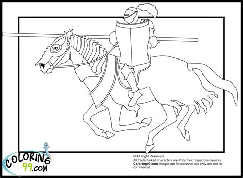 coloring pages knights jousting free knights jousting coloring pages