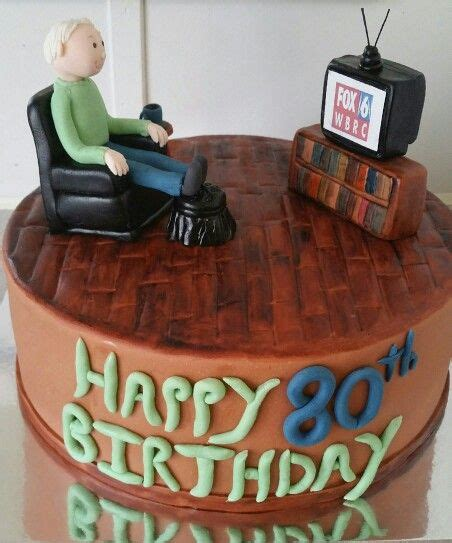 birthday cake fox  fan recliner chair  man  cakes dad birthday cakes