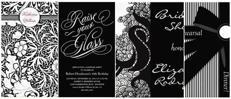 Black And White Birthday Invitation Card Template by Black And White Birthday Invitations Oxsvitation