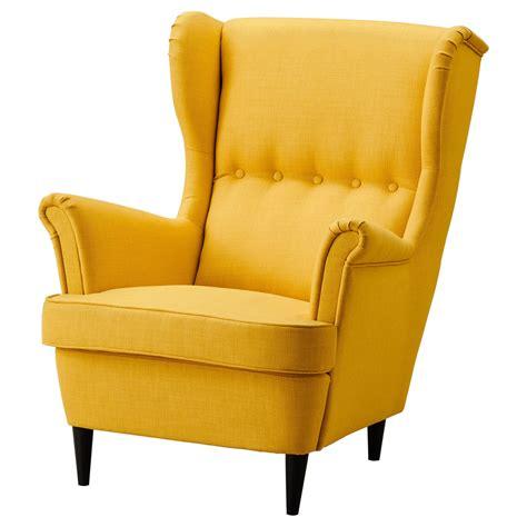 yellow sofa chair strandmon wing chair skiftebo yellow ikea