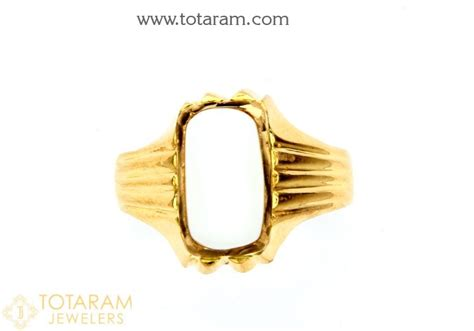 22k gold s ring with white coral 235 gr2269 in 8 300
