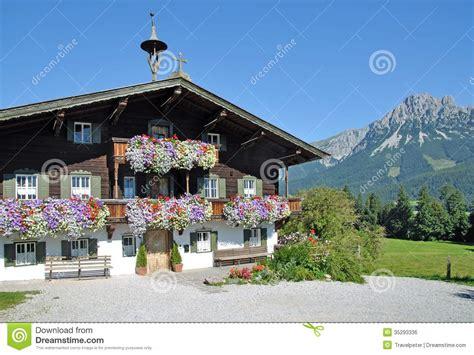 Kaiser Inhouse Detox by Wooden Tyrolean House Ellmau Tirol Austria Stock Photo