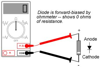 how to test high current diode feee fundamentals of electrical engineering and electronics meter check of a diode