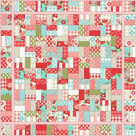 Easy quilt pattern using jelly rolls layer cakes fat quarters quick