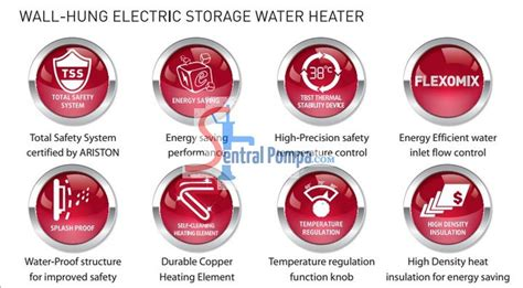 Ariston An 15 Rs 350 Watt Electric Water Heater water heater an 15 r andris 15 r sentral pompa