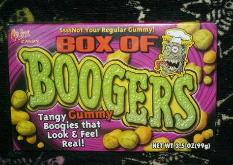 booger color box of boogers junk food betty