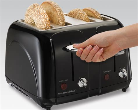 Amazon Com Toasters Amazon Com Proctor Silex Cool Touch 4 Slice Toaster