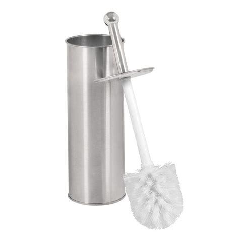 bathroom brush bath bliss toilet brush holder in stainless steel 4658