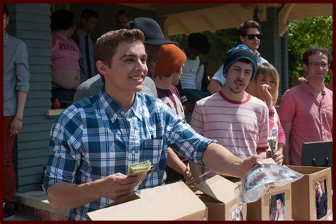 how to make a film in a neighbors town zac efron dave franco face off with seth rogen rose