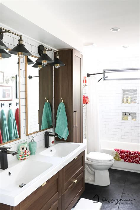 diy bathroom remodel reveal designer trapped in a lawyer