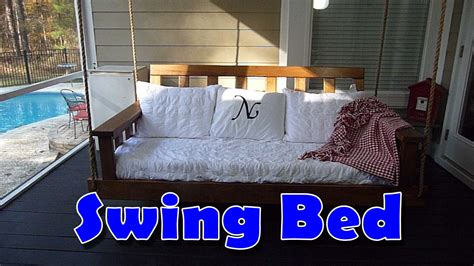 how to make a swing bed swing bed diy youtube