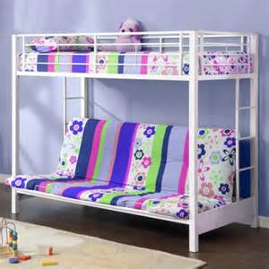 premium futon metal bunk bed white walmart