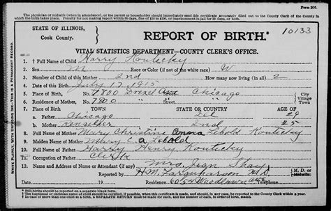Birth Records Illinois Images Of Birth Certificates Business Cards And Resume