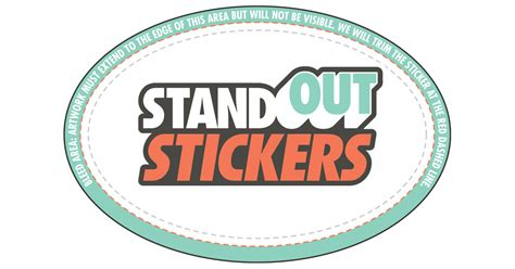 Vinyl Stickers Templates Standout Stickers Custom Sticker Template