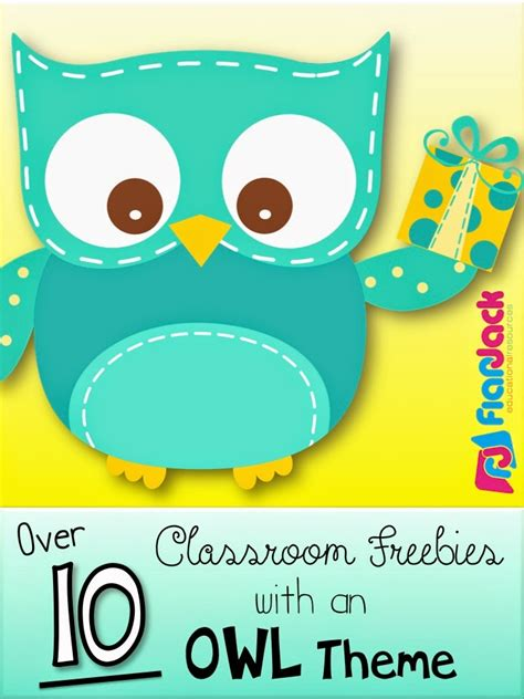 lots  owls classroom theme freebies ideas pack