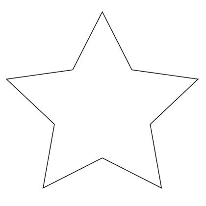printable star template best photos of star pattern to trace large star pattern