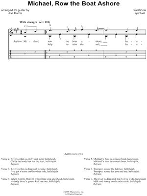 jacob row the boat ashore download digital sheet music of traditional spiritual for