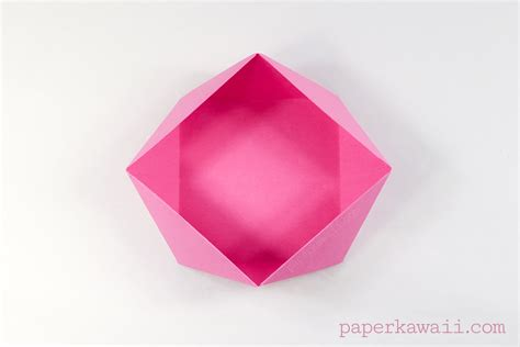 Easy Japanese Origami - traditional origami square bowl box