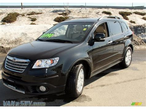 subaru tribeca black 2009 subaru tribeca limited 5 passenger in obsidian black