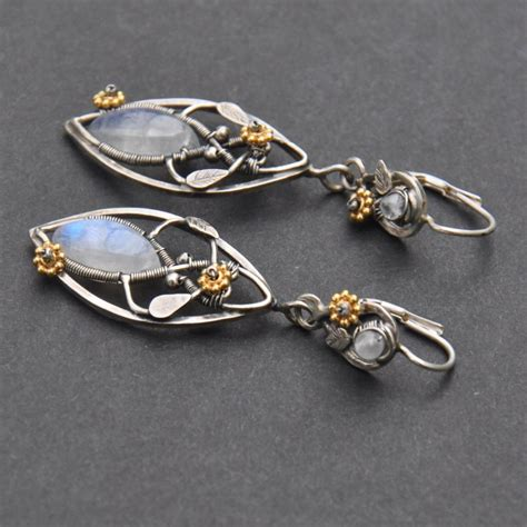 Handmade Filigree Jewelry - lothlorien elven filigree earrings by eire handmade on