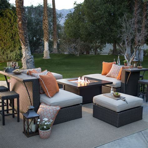 Belham living kolea bay 11 piece entertainment party bar set by agio with napoleon fire pit